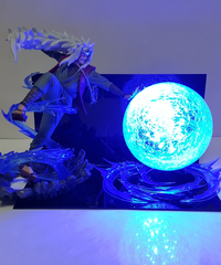 NARUTO - ナルト - アクションフィギュア 自来也(ジライヤ)・エロ仙人大玉螺旋丸LEDナイトライト 40cm