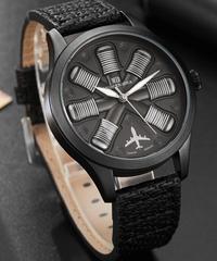 Gorben 航空機エンジン形状ユニーク時計ブラックメンズ腕時計トップブランド高級軍事男性時計スポーツ腕時計