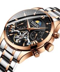 【全10色】 Haiqin メンズ腕時計トップブランドの高級自動/機械式/高級時計メンズスポーツ腕時計男性