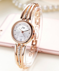 jw ファッションラインストーン時計女性高級ブランドステンレススチールブレスレット時計レディースクォーツドレス時計