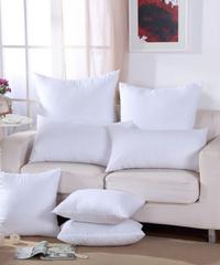 【選べる9サイズ!】シンプル白クッション 50×50cm コットン綿素材汎用無地クッション