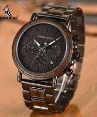 BOBO BIRD 日付表示木製時計高級スタイリッシュ腕時計
