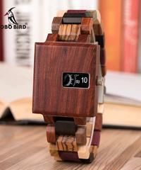 BOBO BIRD 新デザイン腕時計ユニセックス木製ユニークダイヤルクォーツ腕時計