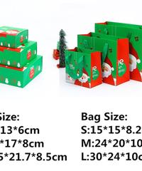 [全3サイズ]クリスマス2019 ギフトボックス・バッグ セット ミドル middle プレゼントセット デコレーション