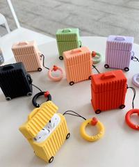 【全7色】 AirPodsケースカバー AirPods第1/2世代専用充電ケースカバー シリコンケース ジュラルミンケース風保護ケース ジュラルミンキャリーケース型保護ケース