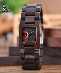 BOBO BIRD 木製女性スモールダイヤルウォッチエレガントカラフルバンドクォーツ腕時計