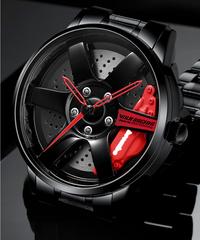 NIBOSI  ビザールウォッチ ホイールデザイン レーシングモデル メンズウォッチ ファッションウォッチ 防水
