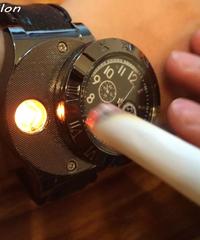 HUAYライターウォッチメンズミリタリーUSB充電スポーツカジュアルクォーツ腕時計