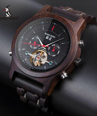 BOBO BIRD 自動スケルトン機械式時計男性木製高級時計