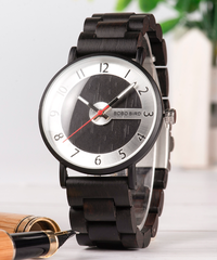 BOBO BIRD 木製時計男女兼用腕時計ファッション木製ストラップクォーツ時計