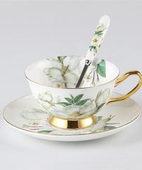 ヨーロッパ椿骨中国コーヒーセット英国磁器ティーセット 1カップ単品