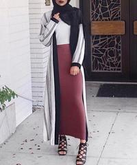 女性ボトムスタイト足首までの長さのタイトスカートイスラム教徒のドバイアラブファッションドレス 7267