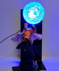 NARUTO - ナルト - アクションフィギュア 大玉螺旋丸ナルト-七代目火影- トイジオラマLedライト 36cm