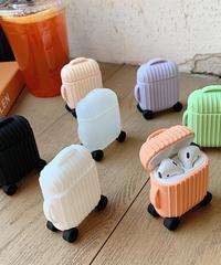 【全7色】 AirPodsケースカバー AirPods第1/2世代専用充電ケースカバー シリコーンケース おもしろいデザイン キャリケース風保護ケース キャリーバッグ型保護ケース  Trolley