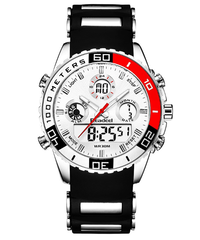 【全2色】 トップブランド 高級メンズスポーツ腕時計 Readeel 日本未発売  クォーツ led ラバー デジタル