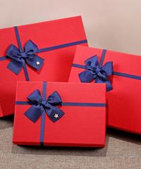 [全3サイズ]クリスマス2019 長方形クラシカルギフトボックス ビッグ big  プレゼントボックスギフトバッグ 汎用サイズ カートン