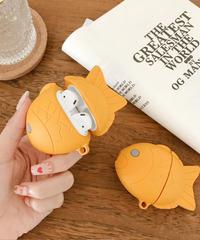 【食べものシリーズ】 AirPodsケースカバー AirPods第1/2世代専用充電ケースカバー 魚型保護ケース たい焼きデザイン シリコーンケース
