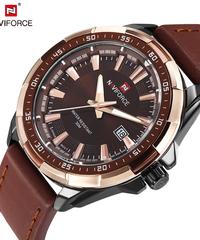【全5色】 NAVIFORCEオリジナルブランドのファッションメンズ時計クォーツ時計男性防水腕時計ミリタリー時計レロジオ