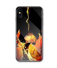 スマホケース iPhoneケース  鬼滅の刃 きめつのやいば 我妻 善逸 雷の呼吸 壱ノ型 霹靂一閃 ソフトケース ハードケース 9h ワイヤレス充電対応 スマホガジェット