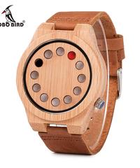 BOBO BIRD クォーツメンズ腕時計カジュアルバンブーウッド腕時計クォーツ時計ファッション時計