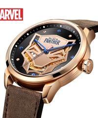 ディズニー公式 マーベルシリーズ腕時計 海外限定版 アベンジャーズブラックパンサー自動機械式防水時計