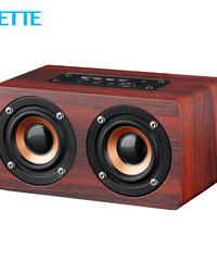 Bluetoothデュアルスピーカー  木製高音質スピーカー  持ち運びに便利なコンパクトスピーカー  最大10w出力  無線・有線・メモリーカード対応  HIFIサウンド  ロングバッテリー