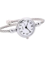 saatleriガラスミラーブレスレット時計アラビア数字ローマ数字アナログクォーツ腕時計