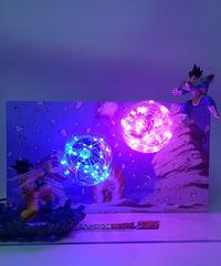 ドラゴンボールランプ孫悟空(かめはめ波)VSベジータ(ギャリック砲)Ledナイトライトテーブルランプ