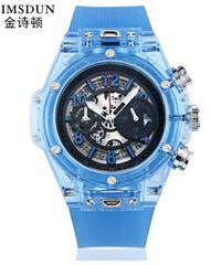 【全7色】 kimsdunシリコンバンドクォーツ時計3 bar耐久性のある男女兼用腕時計スポーツメンズ腕時計