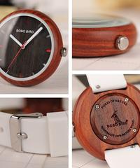 BOBO BIRD ファッションカラフルシリコンストラップレディースウォッチ木製シリコンバンドクォーツ腕時計レディース腕時計