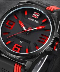 NAVIFORCEメンズスポーツクォーツ時計ファッションカジュアルアナログ腕時計