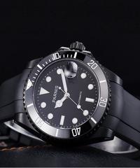 【全7色】 Parnis40ミリメートルメンズ自動腕時計機械式時計セラミックダイブスチール機械式男性腕時計