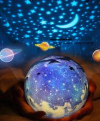 Ledナイトライトusb電源ユニバース星空カラフルなプロジェクションランプベッドサイド