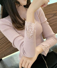 #76  lace tops 【pink】