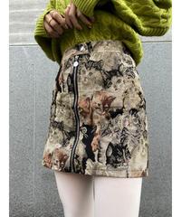 キャット刺繍スカート