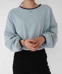 【 予約商品 】#321  colour lib tops / blue