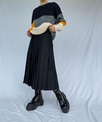 【 予約商品 】プリーツ ロングスカート / ブラック