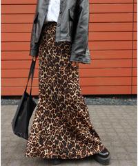 #344 レオパードマーメイドロングスカート