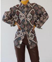 刺繍レトロオーバーシャツ