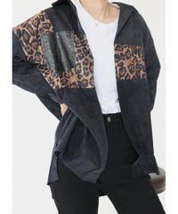 #281 ドッキングスエードオーバーシャツ / ブラック