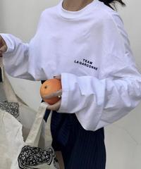 #ミニロゴ ロングTシャツ / ホワイト
