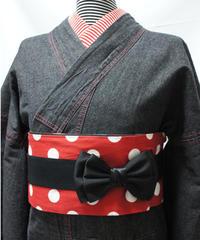★ポケット付き★レディース・デニム着物 対丈Sサイズ / ブラック