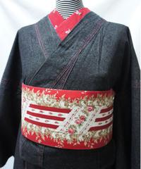 レディース・デニム着物 フリーサイズ / ブラック