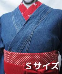 レディース・デニム着物 Sサイズ / 色あせインディゴ