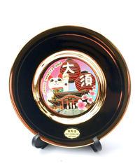 新彫金 飾り皿10㎝『大須招き猫』