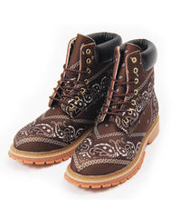 NOTFORSALE / paisly boots brown