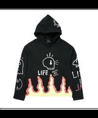 DMC kal / FLAME logo hoodie