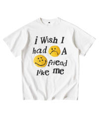 MAISON EMERALD / foam smile face S/S tee