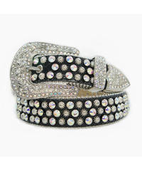 HERMETIC / crystal belt pearl black