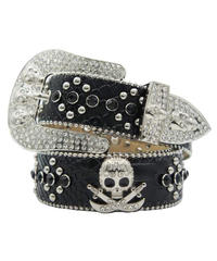 HERMETIC / skull leather belt